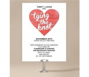 Cutout Heart Wedding Invitations