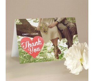 Cutout Heart Thank You Card (Large)