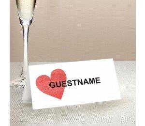 Cutout Heart Wedding Place Card