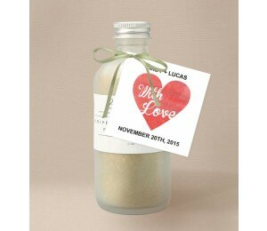 Cutout Heart Wedding Gift Tag