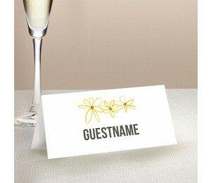 Daisy Chain Wedding Place Card