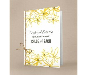 Daisy Chain Order Of Service Booklet Covers