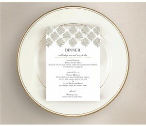 Deco Fans Wedding Menu