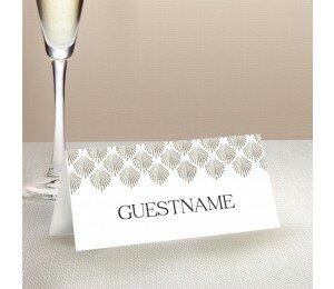 Deco Fans Wedding Place Card