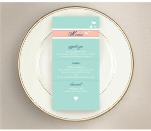 Decorative Heart Wedding Menu