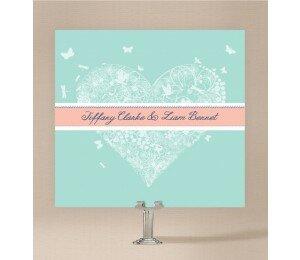 Decorative Heart Wedding Invitations