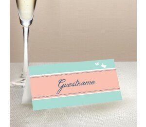 Decorative Heart Wedding Place Card