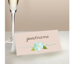 Delicate Daisy Wedding Place Card