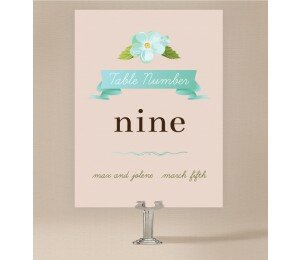 Delicate Daisy Table Numbers