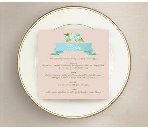 Delicate Daisy Wedding Menu