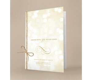 Elegant Order Of Service Booklet Covers