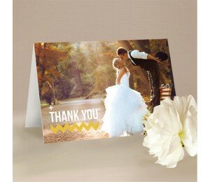 Fading Chevron Thank You Card