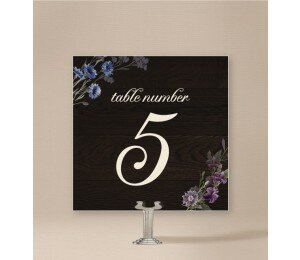 Wood and Flowers Table Numbers