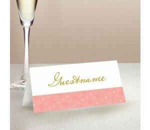 Golden Lattice Wedding Place Card