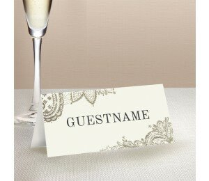 Graceful Wedding Place Card