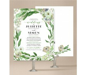 Gum Leaves Wedding Invitations