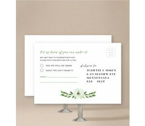 Gum Leaves Wedding Response Card