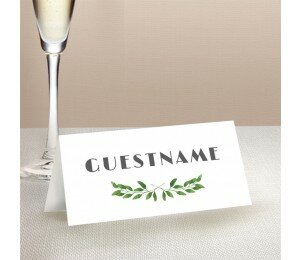 Gum Leaves Wedding Place Card