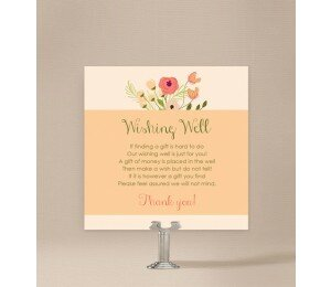 In Full Bloom Wedding Wishing Well Card