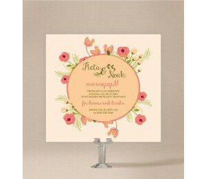 In Full Bloom Engagement Invitations