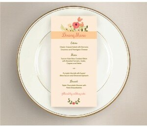 In Full Bloom Wedding Menu