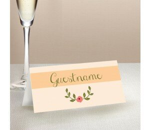 In Full Bloom Wedding Place Card
