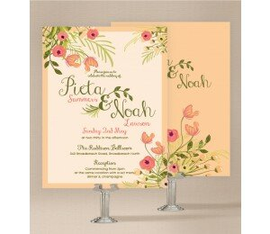In Full Bloom Wedding Invitations