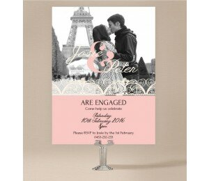 Lacey Lace Engagement Invitations