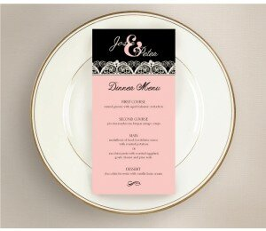 Lacey Lace Wedding Menu