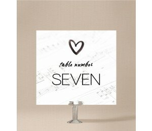 Louder Than Love Table Numbers