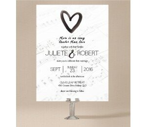 Louder than Love Wedding Invitations