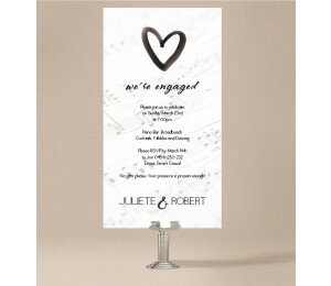 Louder Than Love Engagement Invitations