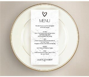 Louder Than Love Wedding Menu
