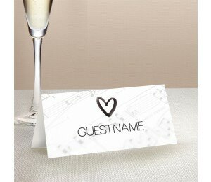 Louder Than Love Wedding Place Card