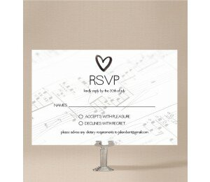 Louder Than Love Wedding Response Card