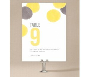 Love Bubble Table Numbers