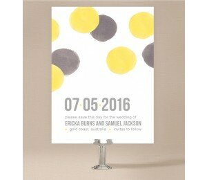 Love Bubble Save The Date Cards