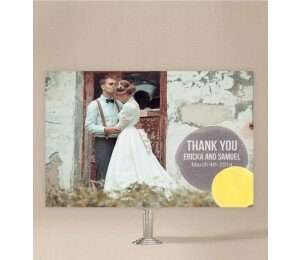 Love Bubble Wedding Thank You Card