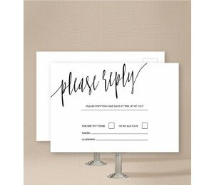 Minimalist Wedding Response Card