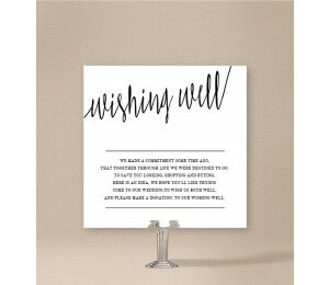 Minimalist Wishing Well Card