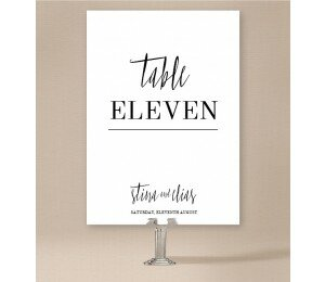 Minimalist Table Numbers
