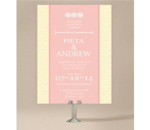 Modern Daisy Wedding Invitations
