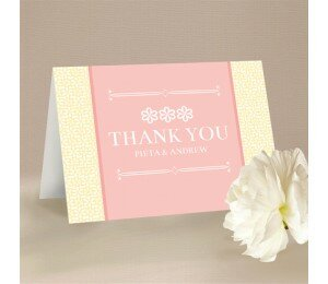 Modern Daisy Thank You Card