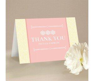 Modern Daisy Thank You Card
