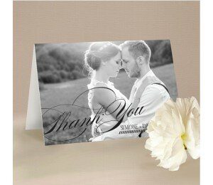 Monochrome Types Photographic Thank You Card