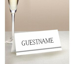 Monochrome Types Placecard