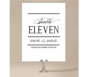 Monochrome Types Table Numbers