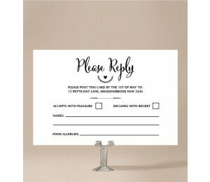 Monogrammed Wedding Response Card