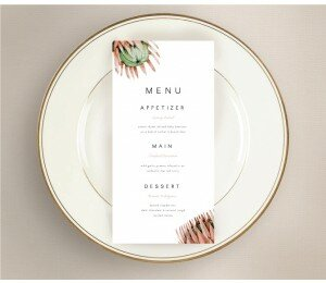 Native Beauty Wedding Menu