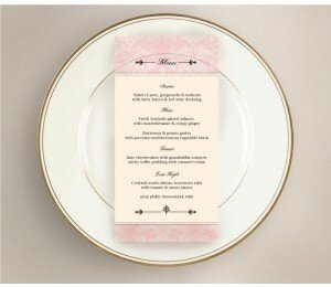 Nouveau Wedding Menu